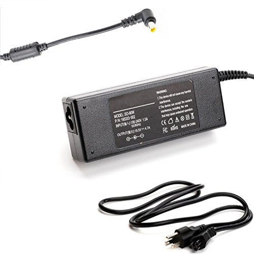 Replacement AC Adapter/Battery Charger For Sony VAIO SVE171G12L, SVJ202A11L, SOJ20215CXB Series Notebooks. (Vaio Sr Series Notebooks)