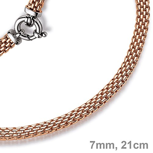 Emall supply bracelet framboise or 7 mm en véritable or 585 21 oLD pour femme