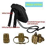 BAIGIO Pochette Téléphone Portable Tactique Sac Ceinture Homme Molle Militaire pour Camping Randonnée Voyage Airsoft… 9