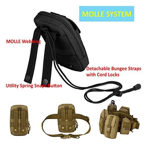 BAIGIO Pochette Téléphone Portable Tactique Sac Ceinture Homme Molle Militaire pour Camping Randonnée Voyage Airsoft… 4