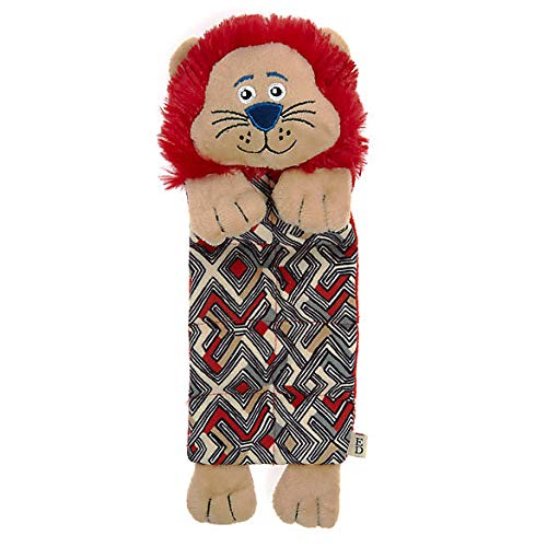 - ED Ellen DeGeneres Safari Lion Mat Plush, Squeaker Dog Toy