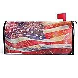 Wamika USA American Flag Mailbox Cover Patriotic