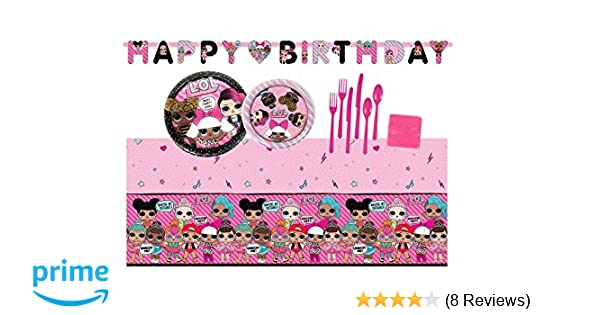 LOL Surprise Doll Birthday Party Supplies Bundle Set For 16 Guests