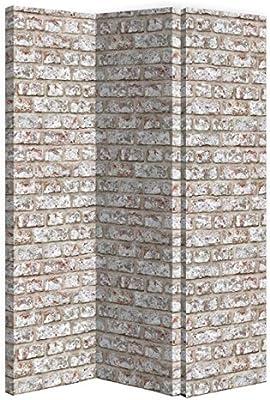 Arthouse - Divisor de Pared de ladrillo rústico, Lienzo, Color ladrillo, tamaño Total: 120 x 150 x 2,5 cm de Grosor: Amazon.es: Hogar