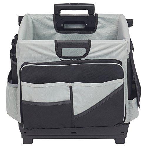 ECR4Kids MemoryStor Universal Rolling Cart and Organizer Bag Set, Black by ECR4Kids (Image #1)
