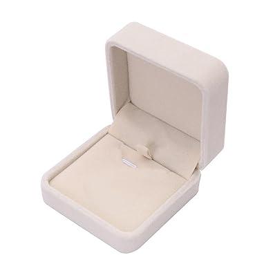 profiter du prix de liquidation 60% de réduction nouvelle collection Boite Cadeau Bijoux, Angelof Beige Coffret à Bague Velours Forme Ecrin  Cadeau Rangement Bague Anneau Boite Bijoux Ring Box Pour Mariage  Anniversaire