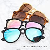 GAMMA RAY Polarized UV400 Vintage Retro Round Thin Style Sunglasses