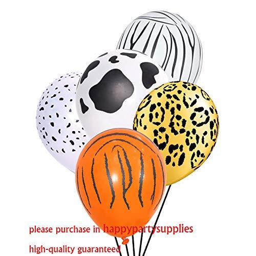 Jungle Safari Animal Balloons 50 PCS Safari Zoo Animals Party Supplies Jungle Birthday Party Birthday Decorations Tiger Leopard Cow Zebra Dalm