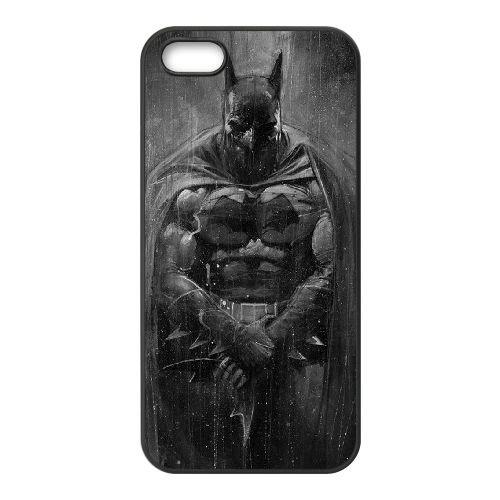 Batman coque iPhone 5 5S Housse téléphone Noir de couverture de cas coque EBDOBCKCO10137