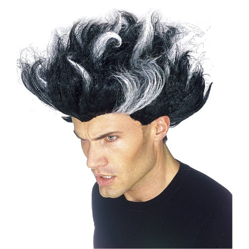 Rubie's Costume Dr Freeze Wig, Black/White, One Size (Mad Scientist Costumes)