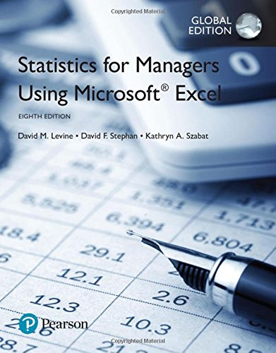 Statistics for Managers Using Microsoft Excel, Global