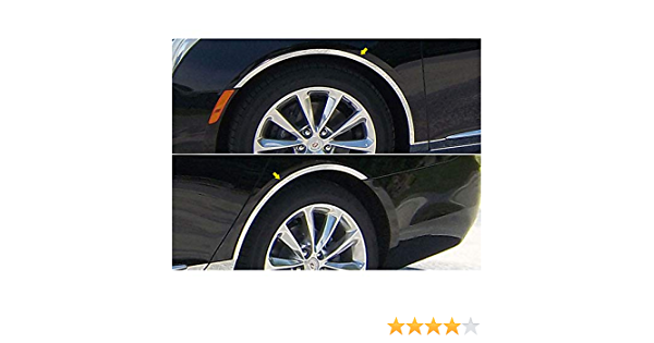 Upgrade Your Auto 4p Luxury FX Chrome Fender Trim w//Gasket for 2013-2015 Cadillac XTS