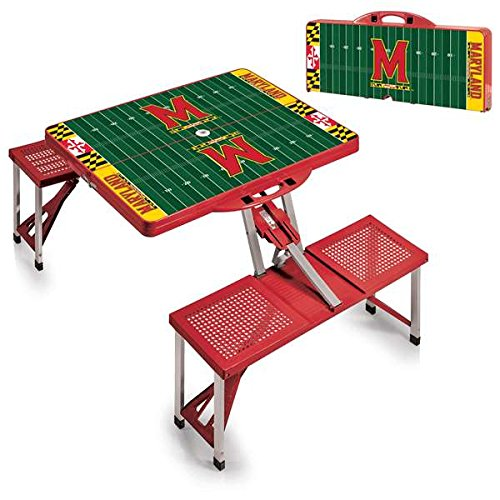NCAA University of Maryland Terrapins Digital Print Picnic Table Sport, Red, One Size