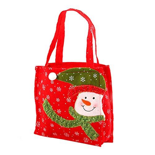 Gespout cm Sacchetto piccolo natalizie neve cm Decorazioni di Pupazzo 17 Uomo Non 4 anziano natalizie Candy Forniture regalo tessuto Taglia Portatile Stampa 1pcs 17 nnrRx4