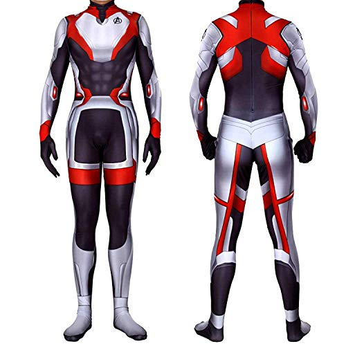 Lycra Spandex Bodysuits Endgame Quantum Realm Tech Suits Superhero Cosplay Costume, Kid M]()