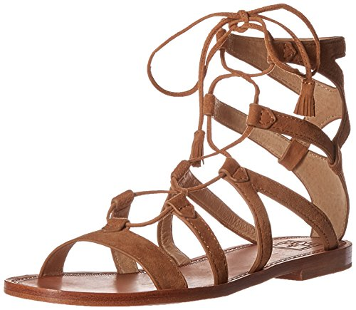 FRYE Women's Ruth Gladiator Short Sandal, Sand, 8 M US