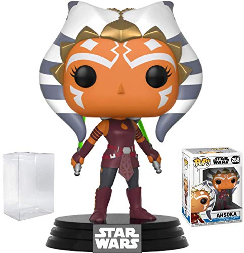 Funko Pop! Star Wars: Clone Wars - Ahsoka Tano Vinyl Figure (Bundled with Pop Box Protector Case) -