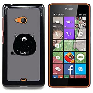"Planetar ( Monster Gato Demonio Negro Animal"" ) Nokia Lumia 540 Fundas Cover Cubre Hard Case Cover"