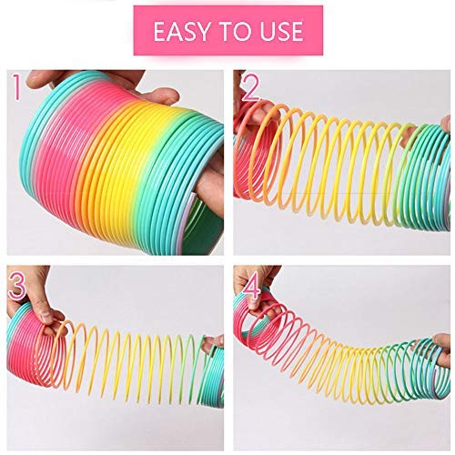 ZCINT Magic Spring Toy Plastic Rainbow Slinky for Kids Gift, 2 Pack