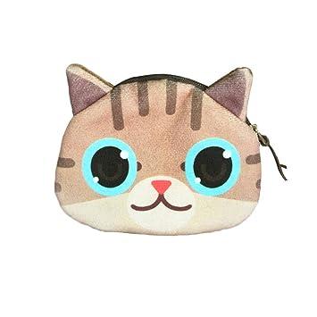 AchidistviQ - Cartera Unisex con diseño de Dibujos Animados y Gatos, con Cremallera, Ideal para Regalo: Amazon.es: Hogar