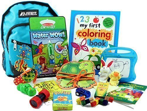 The Pack by Fun On The Fly - Travel Toy Activity Bag for Kids Ages 3 & (Stix Oriental)