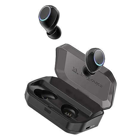 TaoTronics Auricolari True Wireless Bluetooth 5.0 Impermeabile IPX7  Microfono Integrato 3500mAh Custodia Riproduzione 24 Ore Compatibile 0321cc38b654
