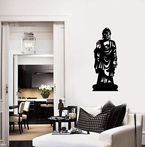 Resorv Decals Estatua De Buda Pared del Vinilo Budista Budismo Zen Decoración Mural Etiquetas TT972