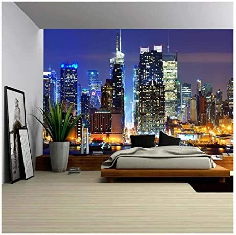 Lower Manhattan from Across The Hudson River in New York City