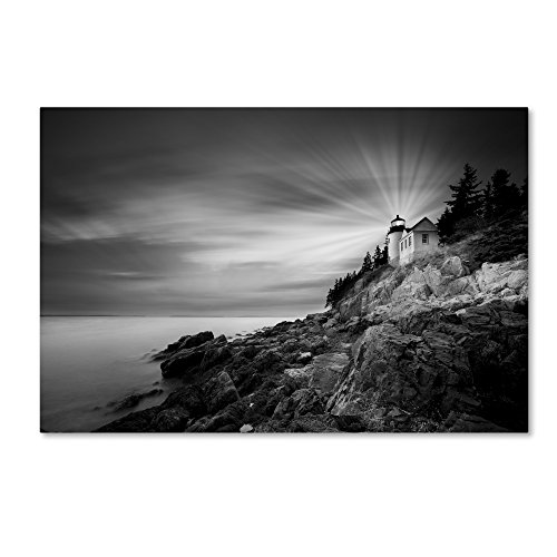 Bass Harbor Lighthouse by Moises Levy, 22x32-Inch Canvas Wall Art