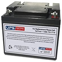 Eastar EA121500 12V 50Ah Sealed Lead Acid Replacement Battery with T9/T16 Terminals