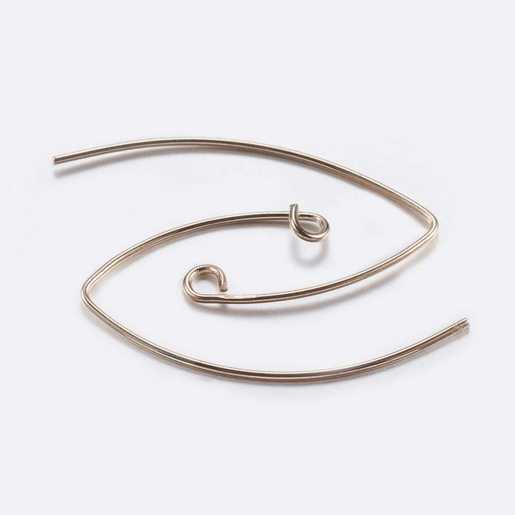 2mm ARRICRAFT 50pcs Metal Earring Hooks V Shape Ear Wires Jewelry Connector for Earring Designs Jewelry Making Hole