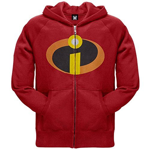 The Incredibles - Costume Zip Hoodie - Small