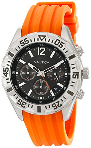 Nautica Men's N17666G NST 402 Analog Display Japanese Quartz Orange Watch