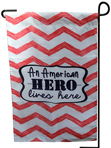 Uniformed Scrapbooks An American Hero Lives Here Garden Flag and Yard Banner, 13 x 18
