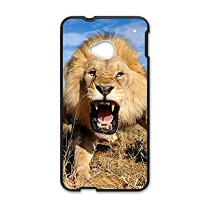 Lion Personalized Custom Phone Case For HTC ONE M7 (Laser Technology) Rubber Case Cover Skin