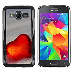 Be Good Phone Accessory // Dura Cáscara cubierta Protectora Caso Carcasa Funda de Protección para Samsung Galaxy Core Prime SM-G360 // Love Heart Winter