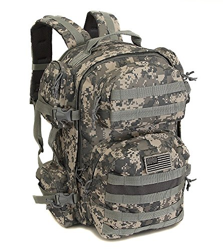 (NPUSA Men's Large Expandable Tactical Molle Hydration ReadyBackpack Daypack Bag - ACU Digital Camo )