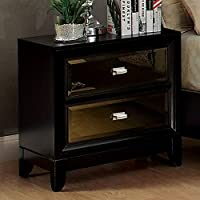 Furniture of America CM7295N Golva Black Nightstand