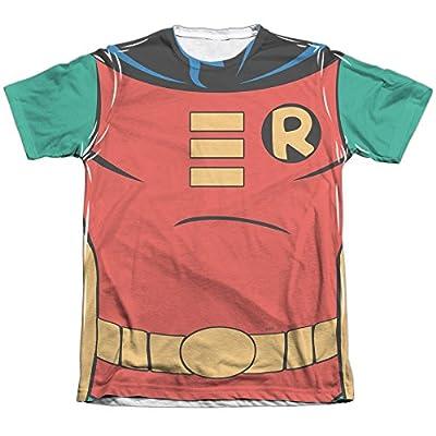 Batman The Animated Series Robin Uniform Mens Sublimation Shirt White Lg