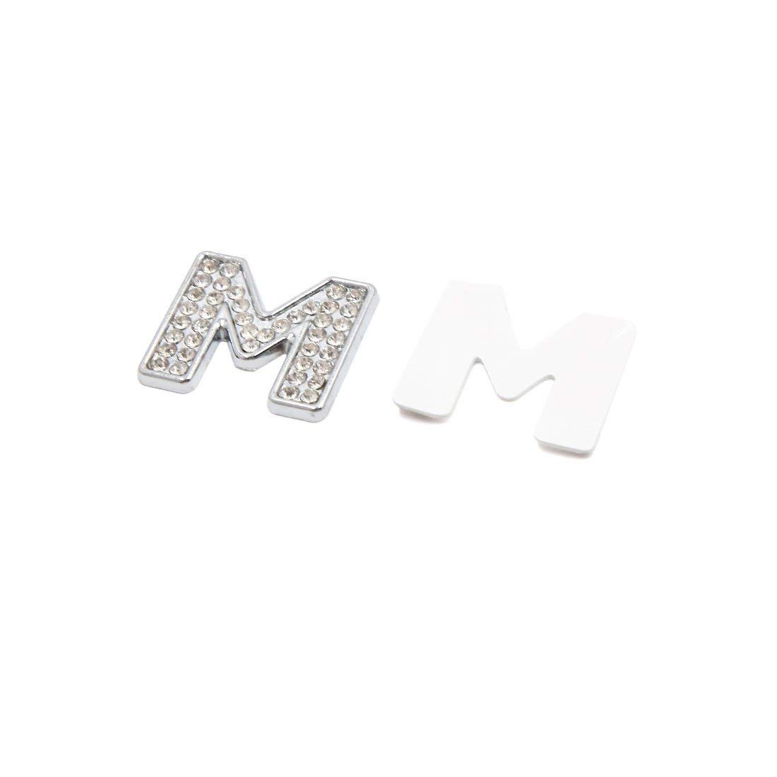 3D Silver Tone Metal Letter A Shaped Car Emblem Badge Sticker Decal Decoration