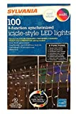 Sylvania Christmas Lights 100 Icicle-Style Led Lights 8-Function Color Changing Warm White Multi Color Connectable (4 box (400 count))