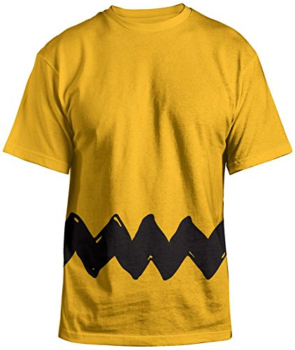 Adult Charlie Brown Costumes (Peanuts - Charlie Brown Costume Tee T-Shirt Size XL)