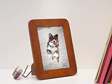 c9325e01f241 Buy Golden Peacock Personalized Dark Brown Wood 5x7 Photo Frames Online at  Low Prices in India - Amazon.in