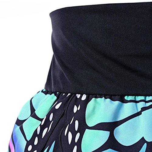 Pliss Butterfly Jupe Basique Jupe Moulante Plisse Elastique Court Sexy Jupe Patineuse Femmes Uniforme URSING Groupe Fashion Sexy Rtro Bleu Haute Taille Girls Courte fte Fille Jupe de 58pwz7