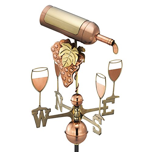 (Good Directions Wine Bottle Weathervane, Pure Copper )