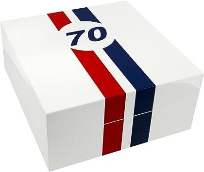 Caja guarda relojes Le Mans 70 piano blanco, 4 relojes: Amazon.es: Bricolaje y herramientas