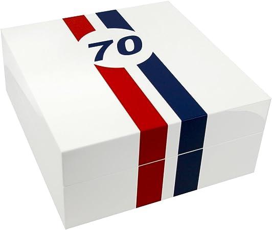Caja guarda relojes Le Mans 70 piano blanco, 4 relojes: Amazon.es ...