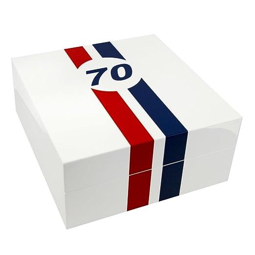 Caja guarda relojes Le Mans 70 piano blanco, 4 relojes: Amazon.es: Relojes