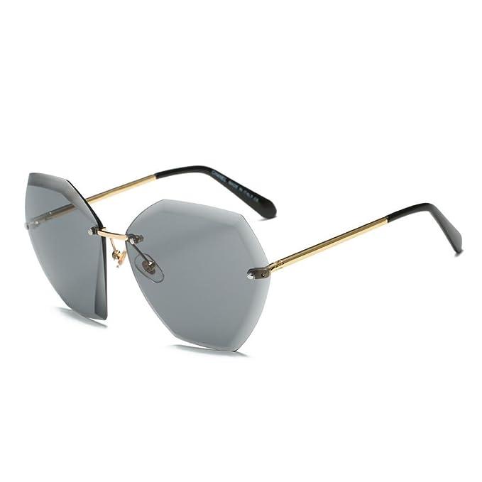 Mode Sonnenbrille Männer Fahren Gläser Gläser Gläser Gläser Goldrahmen Schwarz Grau Linse 6iR1ouYwM