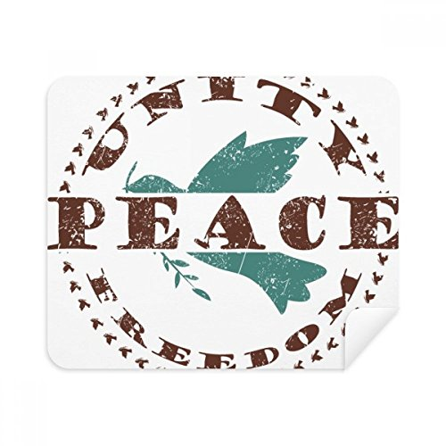 Olive Branch Peace Freedom Symbol Phone Screen Cleaner Glasses Cleaning Cloth 2pcs Suede Fabric